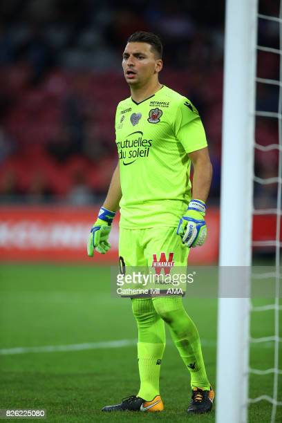Yoan Cardinale of OGC Nice during the UEFA Champions League Qualifying Third Round match between Ajax and OSC Nice at Amsterdam Arena on August 2...