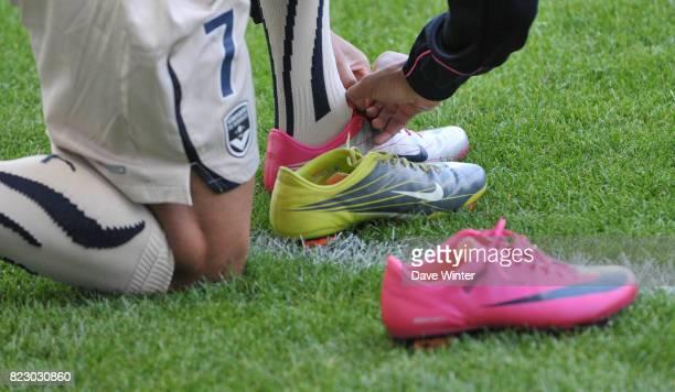 Yoan GOUFFRAN et ses chaussures Caen / Bordeaux Ligue 1 7e journee