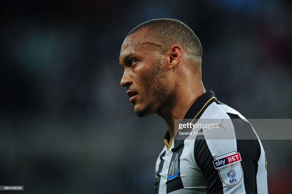 Yoan Gouffran of Newcastle United during the EFL cup between Newcastle United and Cheltenham Town at StJames' Park on August 23 in Newcastle upon...