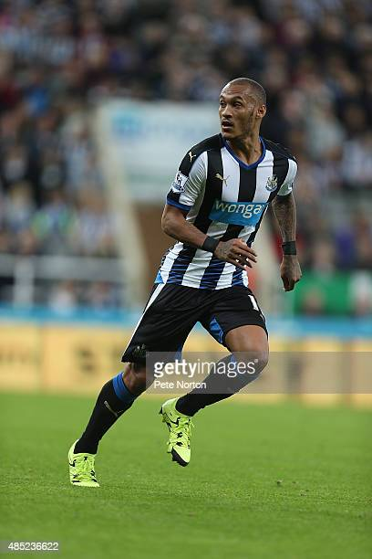 Yoan Gouffran of Newcastle United in action during the Capital One Cup Second Round between Newcastle United and Northampton Town at St James' Park...