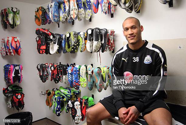 Yoan Gouffran pictured at Newcastle United's Little Benton training ground whilst signing for Newcastle United on January 24 2013 in Newcastle upon...
