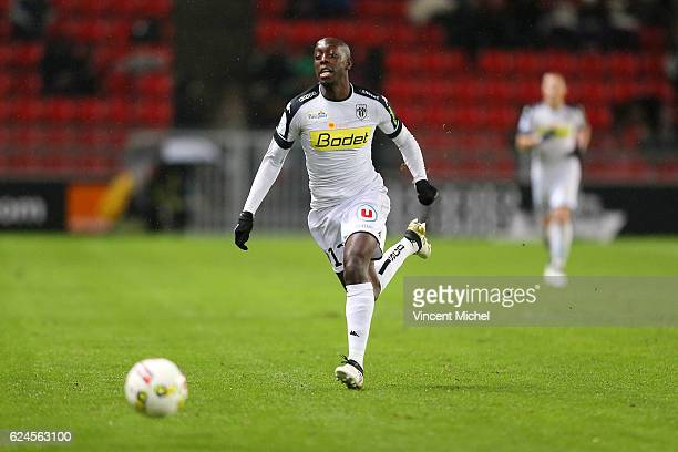 Yoane Wissa of Angers during the Ligue 1 match between Stade Rennais and Sco Angers at Stade de la Route de Lorient on November 19 2016 in Rennes...