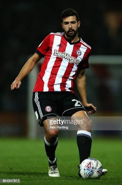 Yoann Barbet of Brentford in action during the Sky Bet Championship match between Brentford and Derby County at Griffin Park on September 26 2017 in...