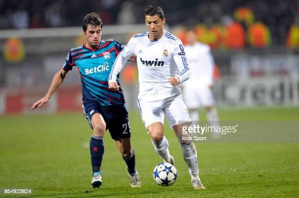 Yoann GOURCUFF / Cristiano RONALDO Lyon / Real Madrid 1/8 Finale aller Champions League