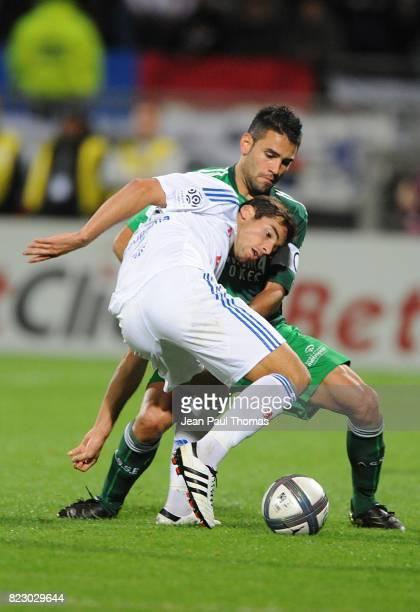 Yoann GOURCUFF / Loic PERRIN Lyon / Saint Etienne 7eme journee de Ligue 1 Stade Gerland
