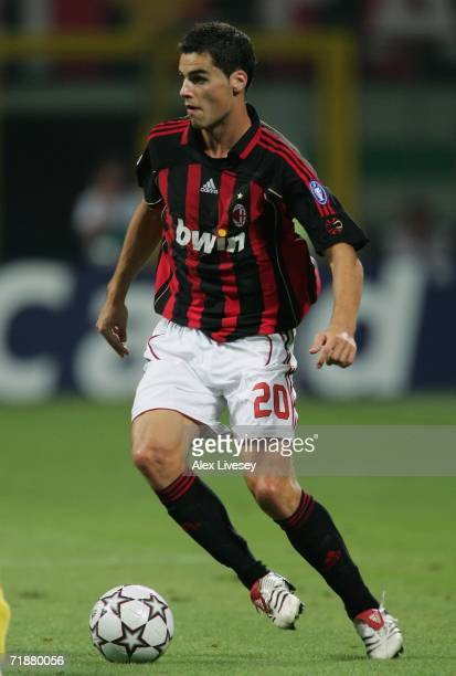 Yoann Gourcuff of AC Milan during the UEFA Champions League Group H match between AC Milan and AEK Athens at the Giuseppe Meazza Stadium on September...