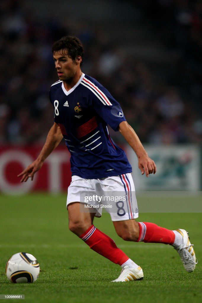 <a gi-track='captionPersonalityLinkClicked' href=/galleries/search?phrase=Yoann+Gourcuff&family=editorial&specificpeople=600434 ng-click='$event.stopPropagation()'>Yoann Gourcuff</a> of France during the France v Costa Rica International Friendly match at Stade Felix Bollaert on May 26, 2010 in Lens, France.