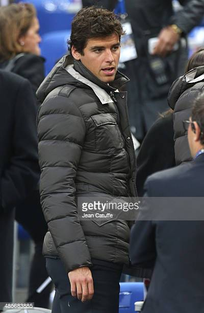 Yoann Gourcuff of Lyon attends the French League Cup Final between Olympique Lyonnais OL and Paris SaintGermain FC at Stade de France on April 19...