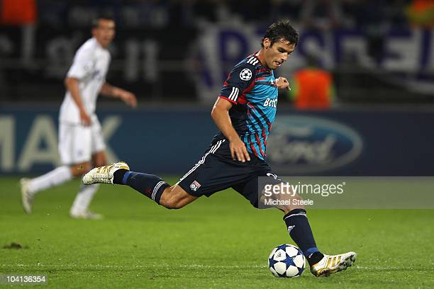 Yoann Gourcuff of Lyon during the UEFA Champions League Group B match between Olympique Lyonnais and FC Schalke 04 at the Stade de Gerland on...