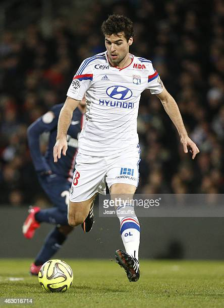 Yoann Gourcuff of Lyon in action during the French Ligue 1 match between Olympique Lyonnais and Paris SaintGermain FC at Stade de Gerland on February...