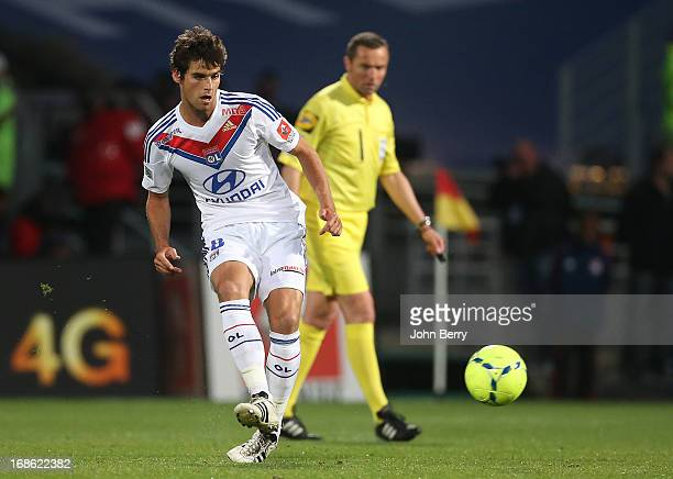 Yoann Gourcuff of Lyon in action during the Ligue 1 match between Olympique Lyonnais OL and Paris SaintGermain FC PSG at the Stade Gerland on May 12...