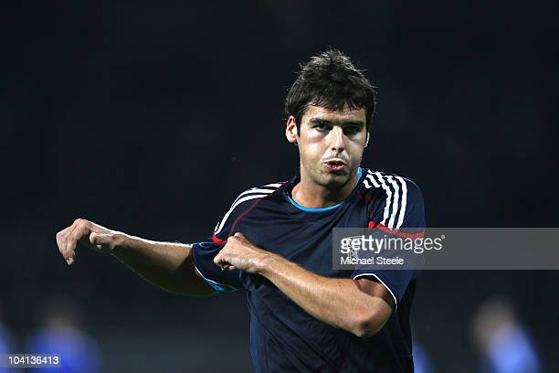 Yoann Gourcuff of Lyon warms up before the UEFA Champions League Group B match between Olympique Lyonnais and FC Schalke 04 at the Stade de Gerland...