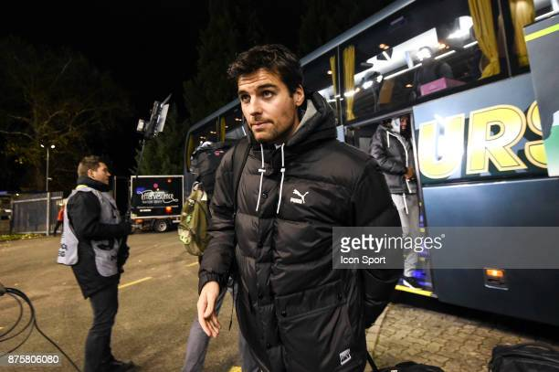 Yoann Gourcuff of Rennes before the Ligue 1 match between Strasbourg and Rennes at Stade de la Meinau on November 18 2017 in Strasbourg