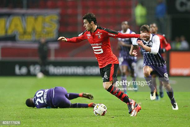 Yoann Gourcuff of Rennes during the French Ligue 1 match between Rennes and Toulouse at Roazhon Park on November 25 2016 in Rennes France