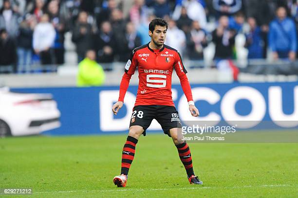 Yoann GOURCUFF of Rennes during the French Ligue 1 match between Lyon and Rennes at Stade des Lumieres on December 11 2016 in Decimes France