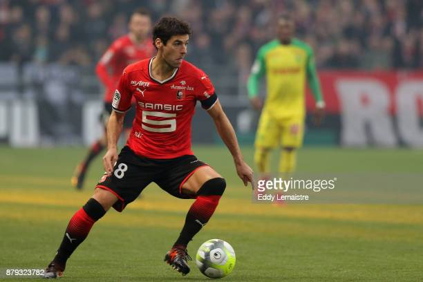 Yoann Gourcuff of Rennes during the Ligue 1 match between Stade Rennais and Nantes at Roazhon Park on November 25 2017 in Rennes
