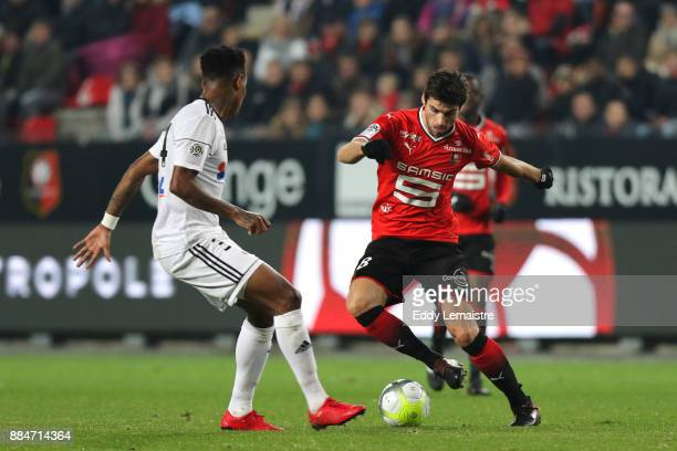 Yoann Gourcuff of Rennes during the Ligue 1 match between Stade Rennais and Amiens SC at Roazhon Park on December 2 2017 in Rennes