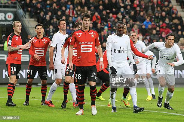 Yoann Gourcuff of Stade de Rennes during the French Ligue 1 match between Stade de Rennes and Paris SaintGermain at Roazhon Park on january 14 2017...
