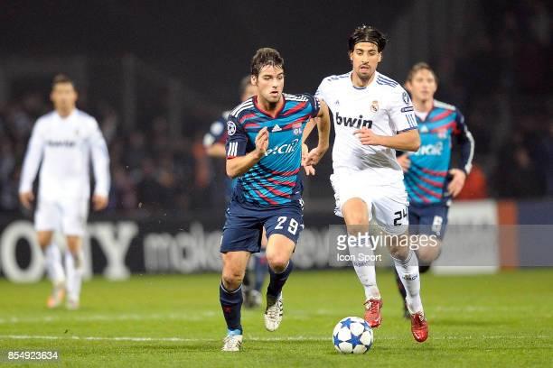 Yoann GOURCUFF / Sami KHEDIRA Lyon / Real Madrid 1/8 Finale aller Champions League
