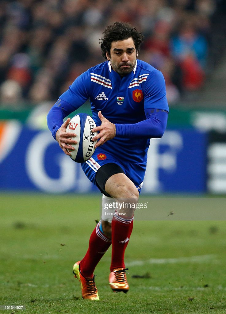 Yoann Huget of France in action during the RBS Six Nations match between France and Wales at Stade de France on February 9, 2013 in Paris, France.