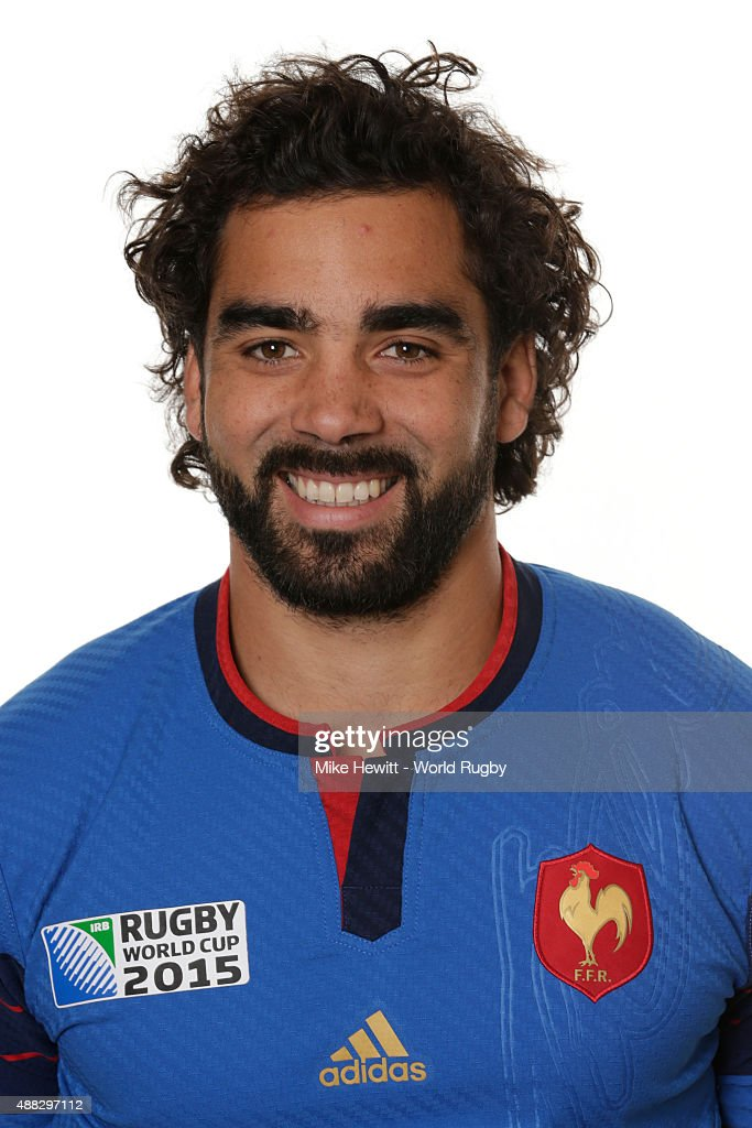 Yoann Huget of France poses during the France Rugby World Cup 2015 squad photo call at the Selsdon Park Hotel on September 15, 2015 in Croydon, England.