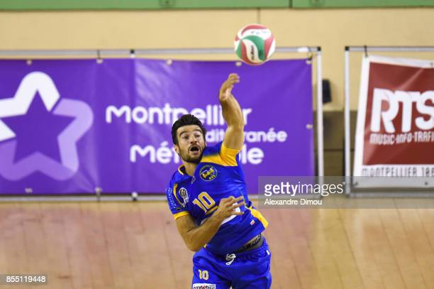 Yoann Jaumel of Nice during the Volleyball friendly match on September 22 2017 in Montpellier France