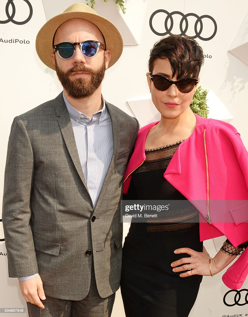 Yoann Lemoine (L) and <a gi-track='captionPersonalityLinkClicked' href=/galleries/search?phrase=Noomi+Rapace&family=editorial&specificpeople=4522889 ng-click='$event.stopPropagation()'>Noomi Rapace</a> attend day one of the Audi Polo Challenge at Coworth Park on May 28, 2016 in London, England.