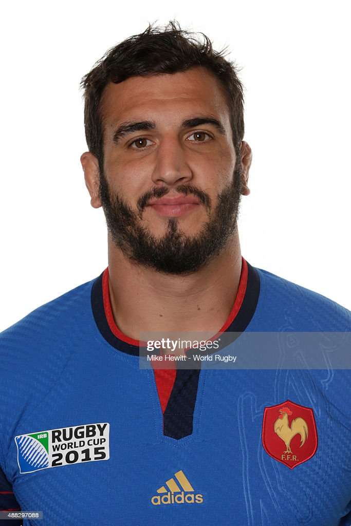 <a gi-track='captionPersonalityLinkClicked' href=/galleries/search?phrase=Yoann+Maestri&family=editorial&specificpeople=6704761 ng-click='$event.stopPropagation()'>Yoann Maestri</a> of France poses during the France Rugby World Cup 2015 squad photo call at the Selsdon Park Hotel on September 15, 2015 in Croydon, England.