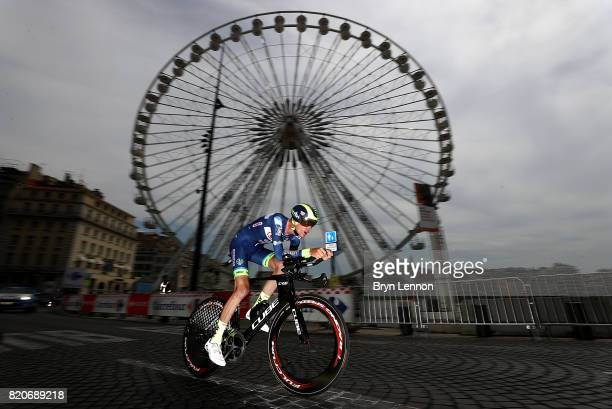 Yoann Offredo of France and Wanty Groupe Gobert in action during stage twenty of Le Tour de France 2017 on July 22 2017 in Marseille France
