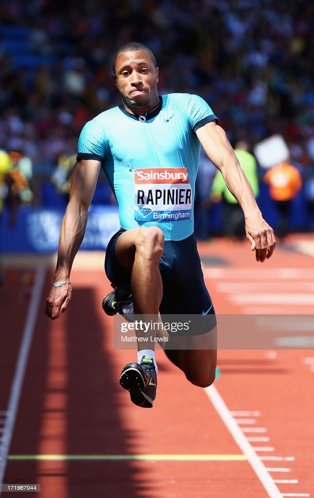 Yoann Rapinier of France in action during the Mens Triple Jump during the Sainsbury's Grand Prix Birmingham IAAF Diamond League at Alexander Stadium on June 30, 2013 in Birmingham, England.