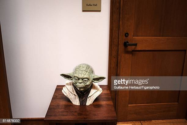 Yoda bust is photographed for Le Figaro Magazine on November 24 2015 at Industrial Light Magic in San Francisco California CREDIT MUST READ Guillaume...