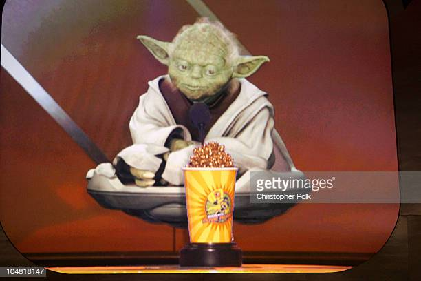 Yoda during 2003 MTV Movie Awards Show at The Shrine Auditorium in Los Angeles California United States