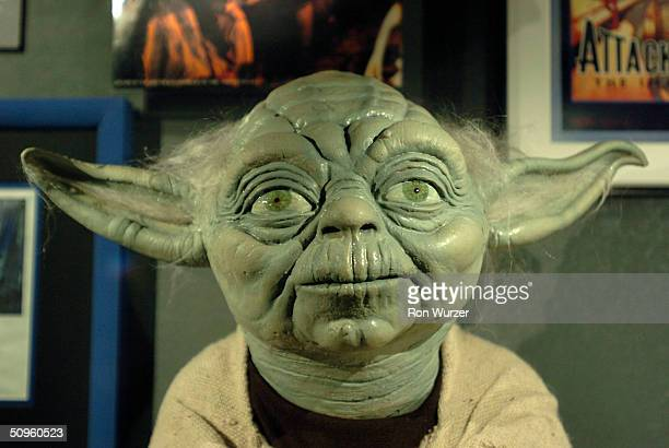 Yoda from the Star Wars movies is seen on display at The Science Fiction Museum June 14 2004 in Seattle Washington The museum created with $20...