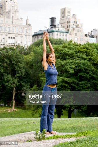 Yoga at Central Park : Stock Photo