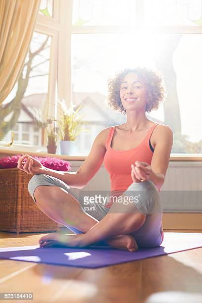 yoga wie zu Hause fühlen.