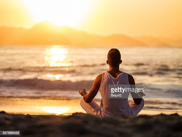 Yoga at sunset.
