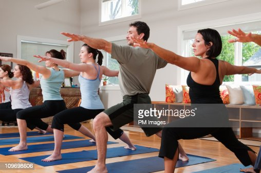 Yoga Class : Stock Photo