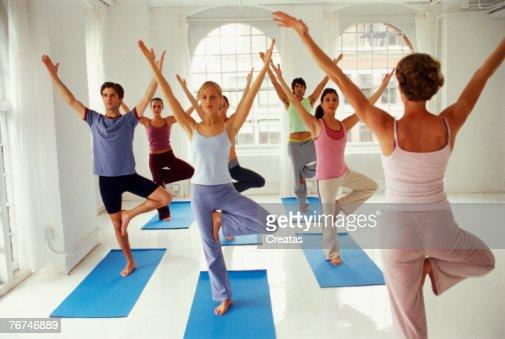 Yoga class : Foto de stock