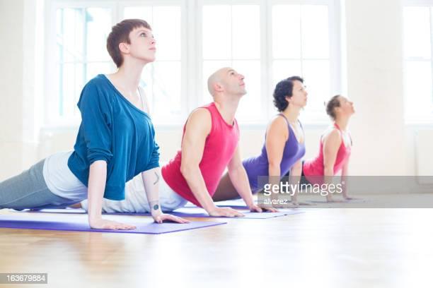 Yoga cobra position