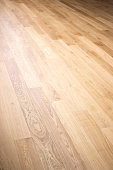 Yoga dance and pilates studio in gym health club with polished real hard wood wooden sprung floor.