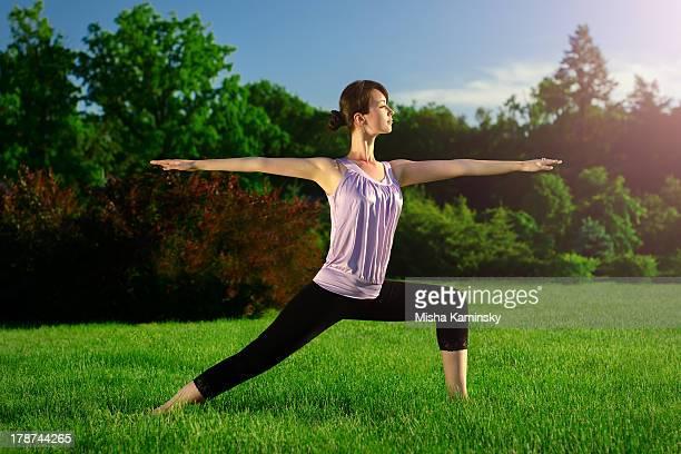 Esercizio di Yoga Virabhadrasana ()