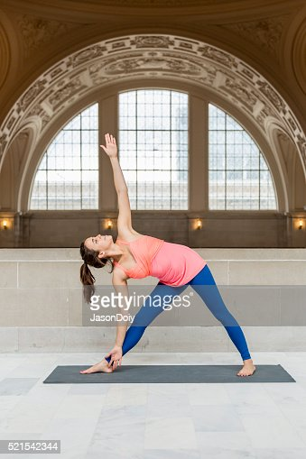 Yoga Extended Triangle