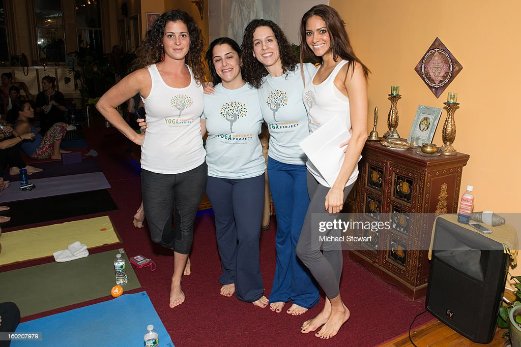 Yoga Freedom Project team Maura Manzo, Julia Haramis, Heather Snyder and Meaghan Jarensky attend the Yoga Freedom project at Dharma Yoga Center on January 27, 2013 in New York City.