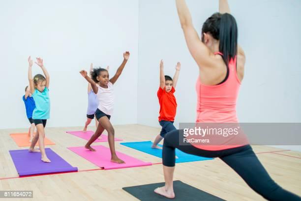 Yoga in School Gym