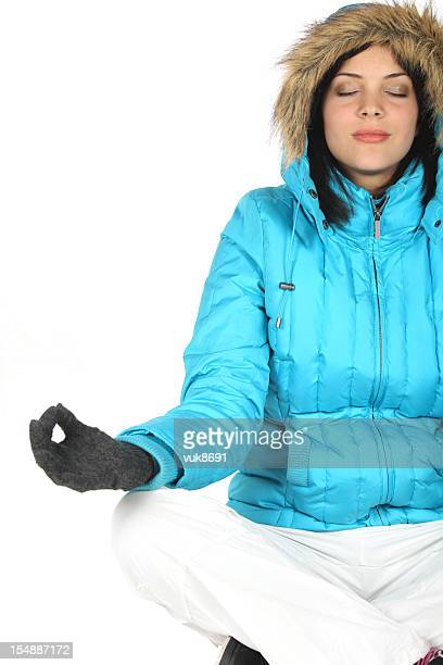 Yoga in snow