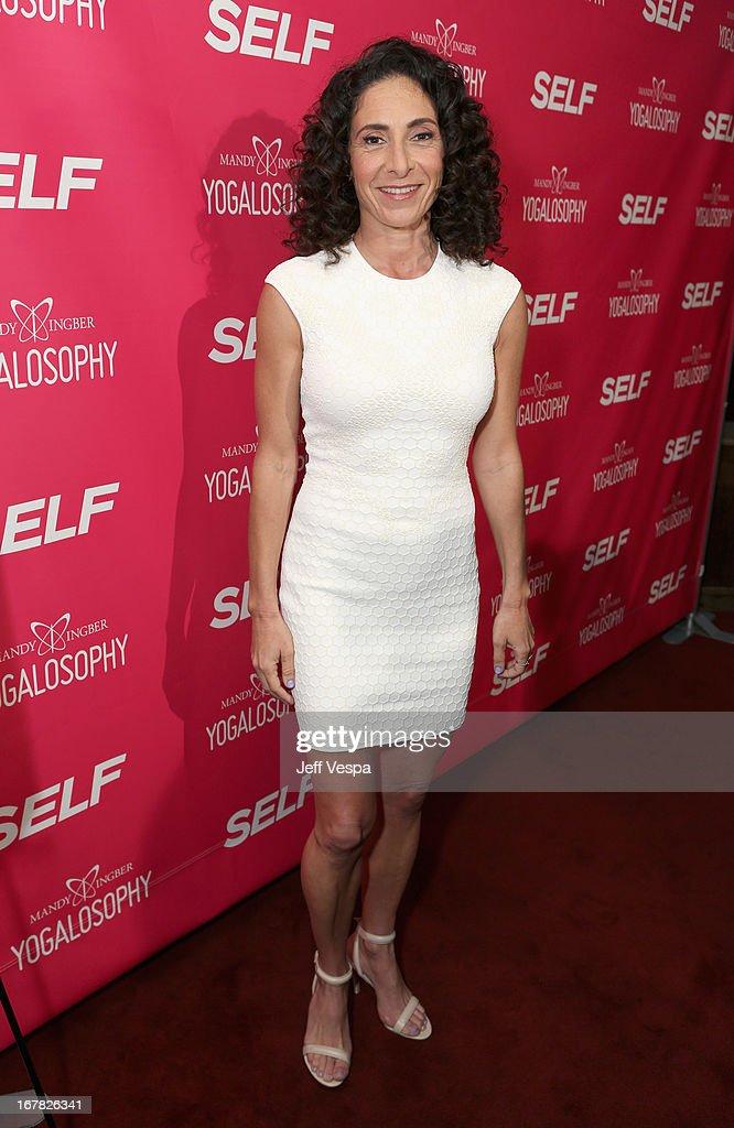 Yoga instructor/author Mandy Ingber attends SELF Magazine and Jennifer Aniston's celebration of Mandy Ingber's new book 'Yogalosophy 28 Days to the...