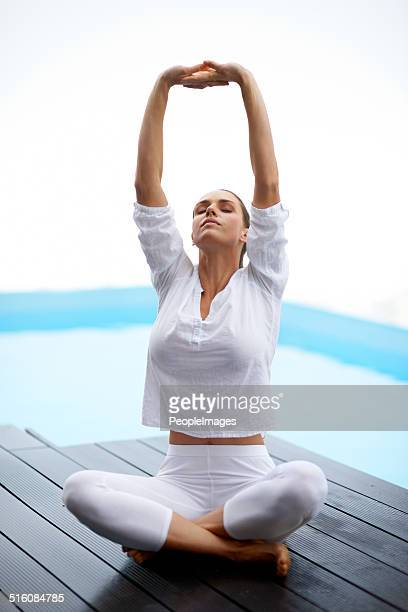 Yoga is part of her life
