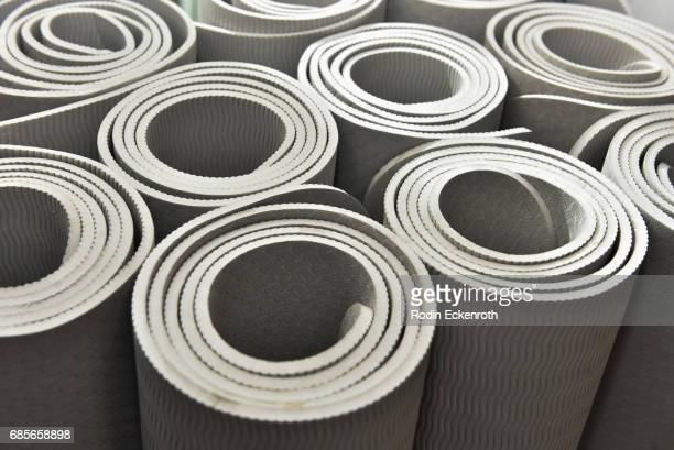 Yoga mats at the grand opening of The Bod by Kym Herjavec on May 19 2017 in Beverly Hills California