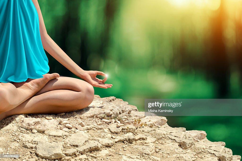 Yoga meditation : Stock Photo