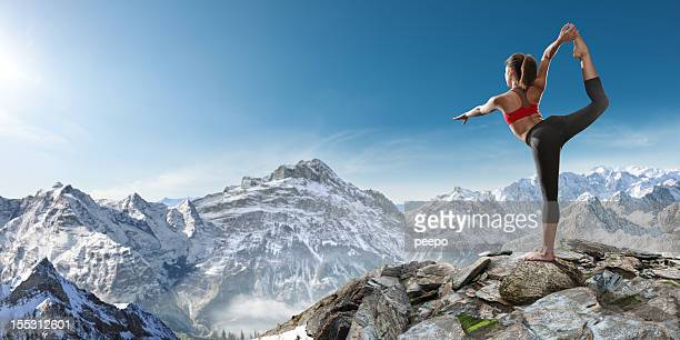 Yoga on Mountain